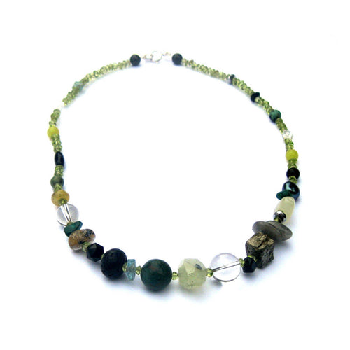 Vert Noir Peridot Nugget Pebble Necklace ,[product vendor],JewelStreet