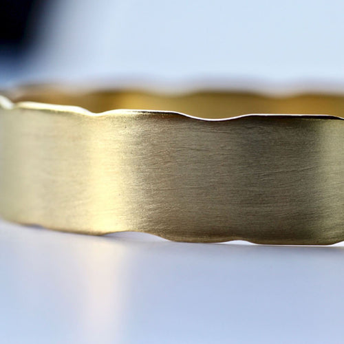 Yellow Gold Plated Handmade Brass Bangle ,[product vendor],JewelStreet
