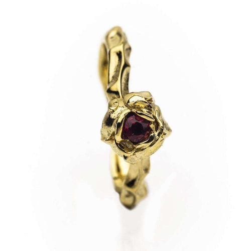 18kt Fairtrade Yellow Gold Briar Rose Ring-Rachel Helen Designs-JewelStreet US