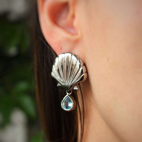 Blue Mer Earrings-Isa Bagnoli-JewelStreet US