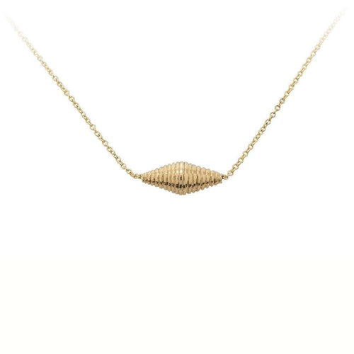 Gold Bead Side Lying Drop Necklace-Betty Balaba-JewelStreet US