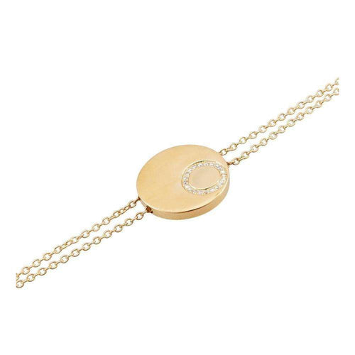 Gold Double Flat Circle Bracelet-Betty Balaba-JewelStreet US