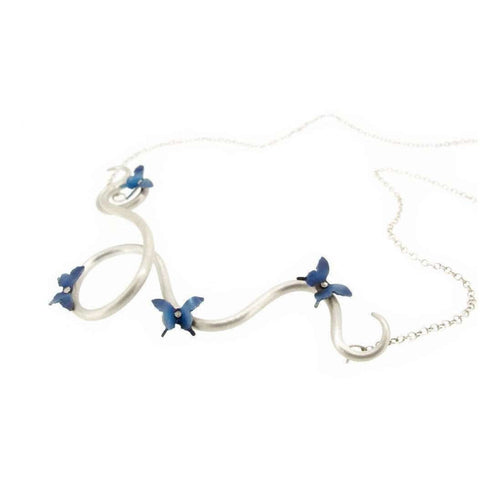 Butterfly Twisting Vine Necklace-Sian Bostwick Jewellery-JewelStreet US