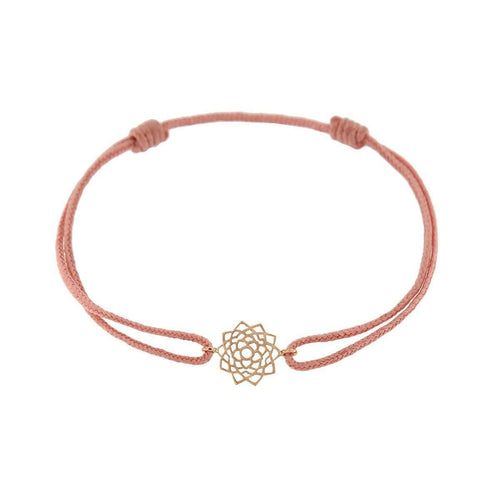 Bracelet on Thread Unity/Sahasrara-Tiny-Om-JewelStreet US