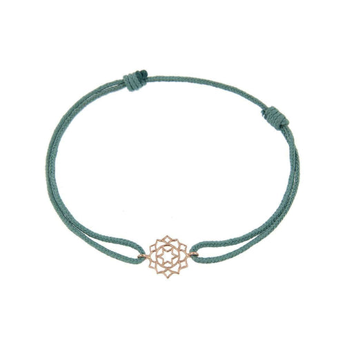 Bracelet on Thread Love/Anahata-Tiny-Om-JewelStreet US