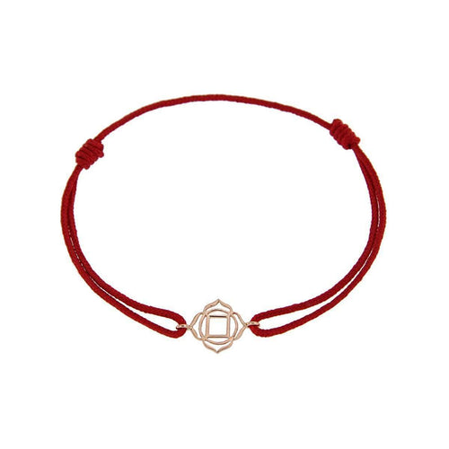 Bracelet on Thread Roots/Muladhara-Tiny-Om-JewelStreet US