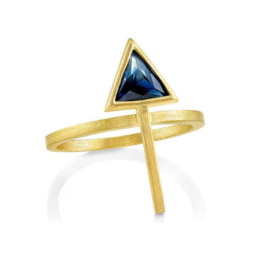 Ombre Sapphire Arrow Ring-As Above So Below-JewelStreet US