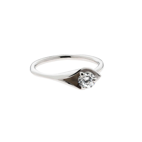 Calla Lily White Gold Luxe Ring-Emma-Kate Francis-JewelStreet US