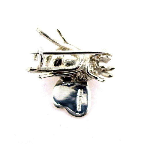 Silver Bumble Bee Brooch-Brooches-Will Bishop-JewelStreet