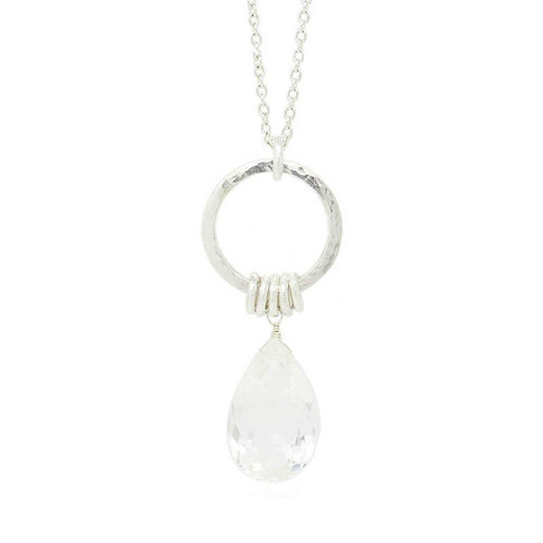 Isla Rose Long Crystal Necklace