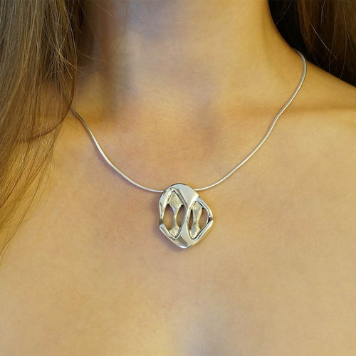 Sterling Silver Caverns Necklace
