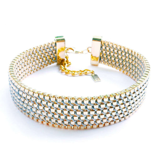 Charlie Choker Gold Plated-Clare Hynes-JewelStreet US