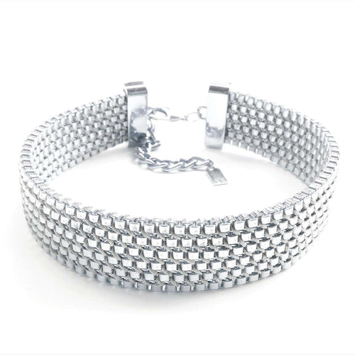 Charlie Choker Silver Plated-Clare Hynes-JewelStreet US