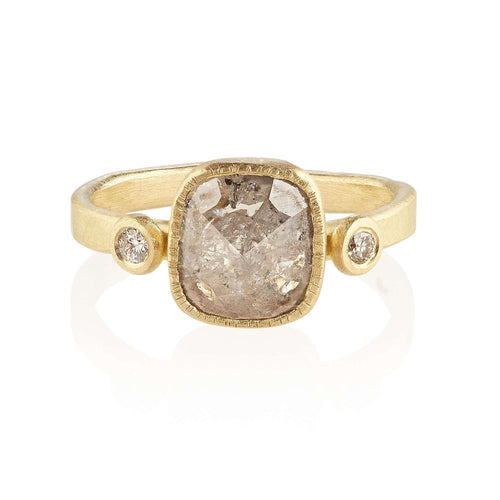 18kt Chrissie Fairtrade Gold Engagement Ring-Shakti Ellenwood-JewelStreet US