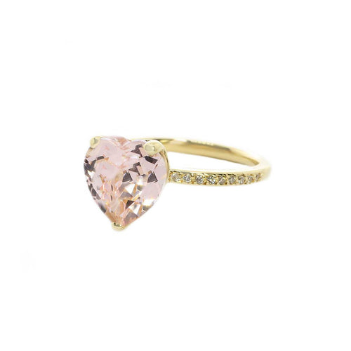 Heart Shape Morganite Ring