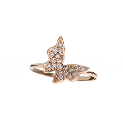 Diamond Butterfly Ring ,[product vendor],JewelStreet