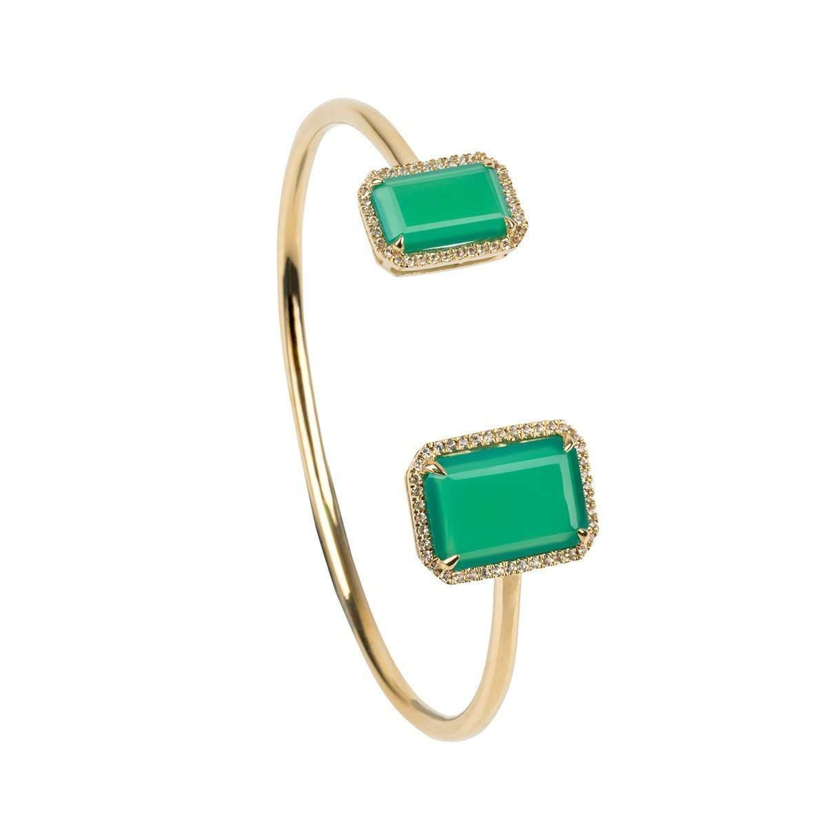 Electra Chrysoprase Bangle-Emily Mortimer Jewellery-JewelStreet US