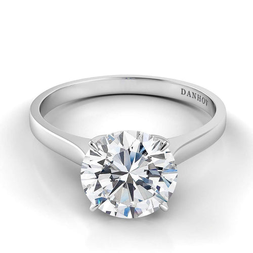 Danhov Classico Shank Diamond Engagement Ring-Danhov-JewelStreet US
