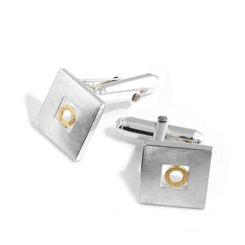 Cufflinks with Gold Circle