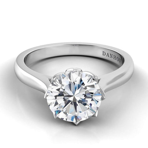 Danhov Classico Single Shank Engagement Ring-Danhov-JewelStreet US