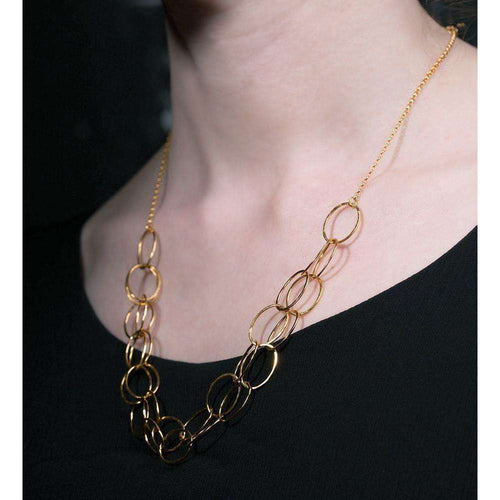 2 Line Gold Cascade Necklace-Heather O Connor-JewelStreet US
