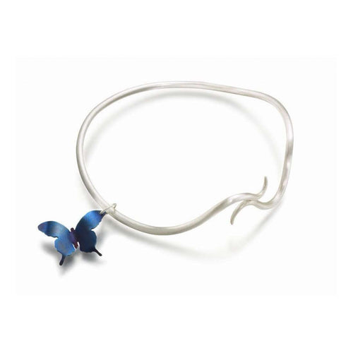 Butterfly Twisting Vine Charm Bangle-Sian Bostwick Jewellery-JewelStreet US