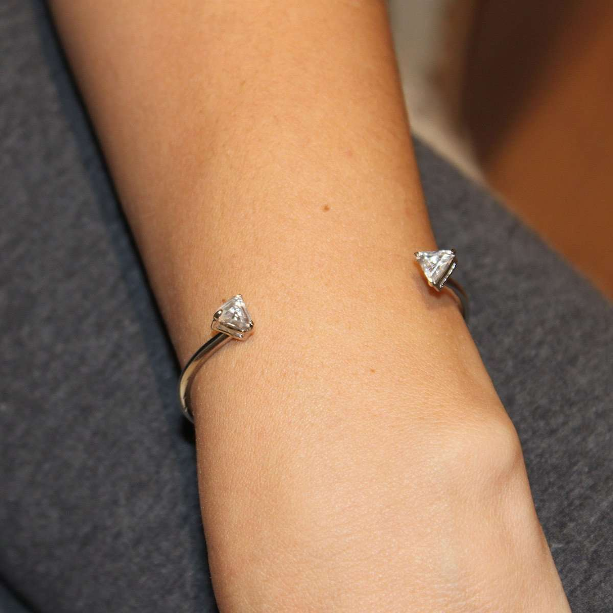 Crystal Triangle Bracelet-Isa Bagnoli-JewelStreet US