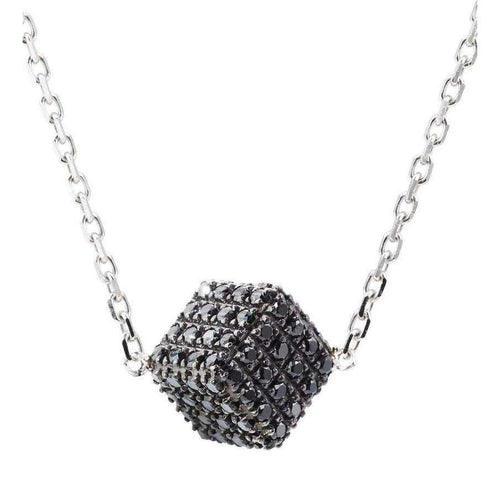 Black Diamond Cube Pendant-Loushelou-JewelStreet US