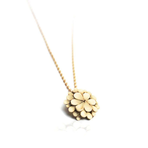 Dahlia 18kt Yellow Gold Necklace-Dagmar Korecki-JewelStreet US