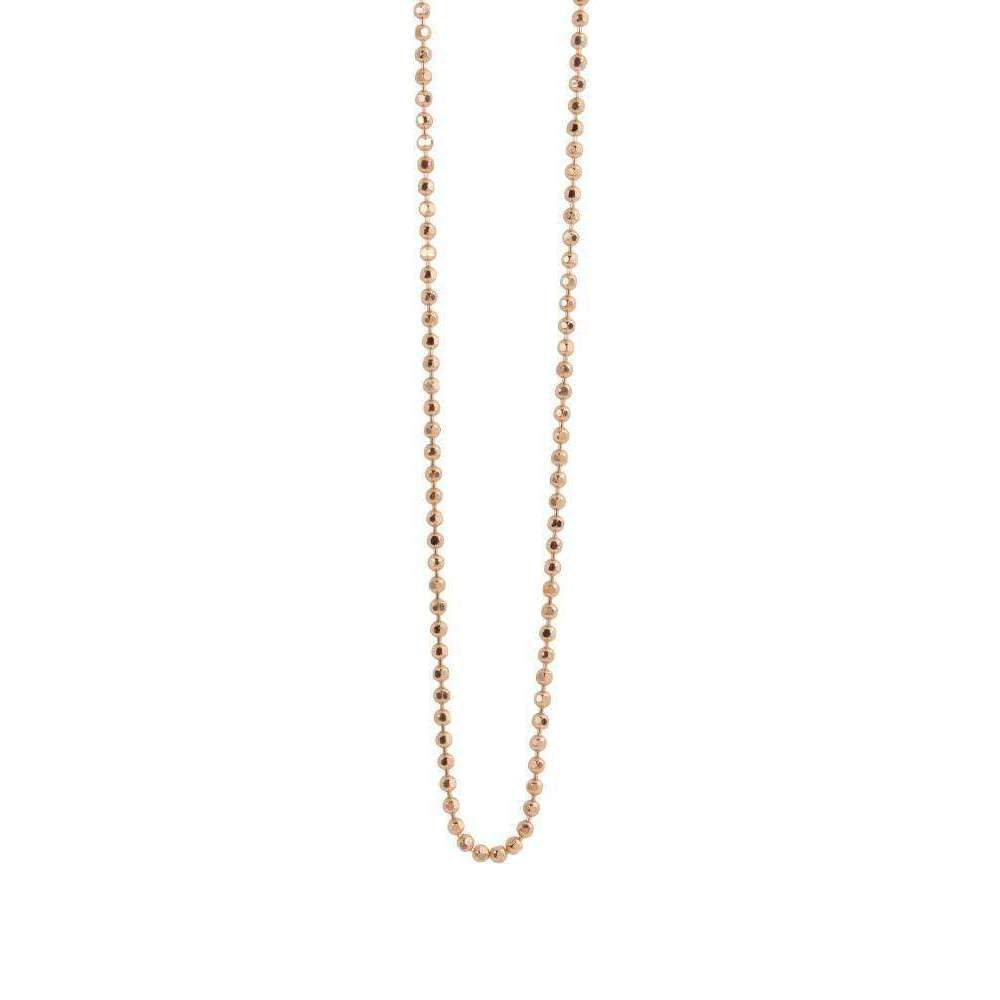 14kt Rose Gold Diamond Cut Ball Chain-Julez Bryant-JewelStreet US