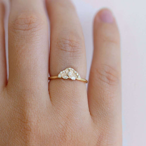 Marquise Diamond Petals Engagement Ring-ARTEMER-JewelStreet US