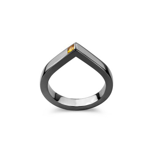 14kt Gold Diamond Spot Ring With Yellow Sapphire  ,[product vendor],JewelStreet