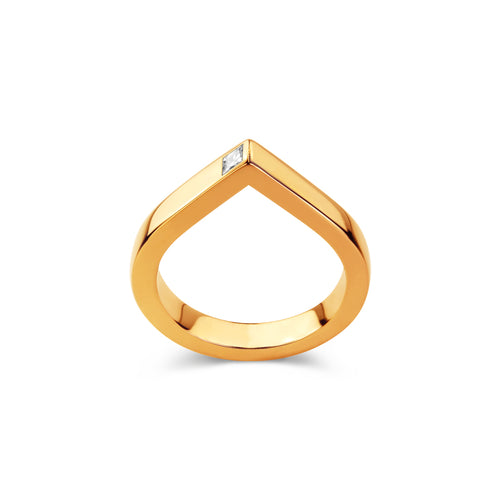 18kt Rose Gold Spot Ring With Diamond ,[product vendor],JewelStreet