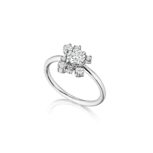 Melting Ice Diamond Ring-Madstone Design-JewelStreet US