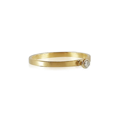 18kt Yellow Gold Simple Elegance Diamond Ring ,[product vendor],JewelStreet