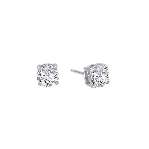 Lafonn Lassaire Classic 4-Prong Stud Earrings-Lafonn-JewelStreet US