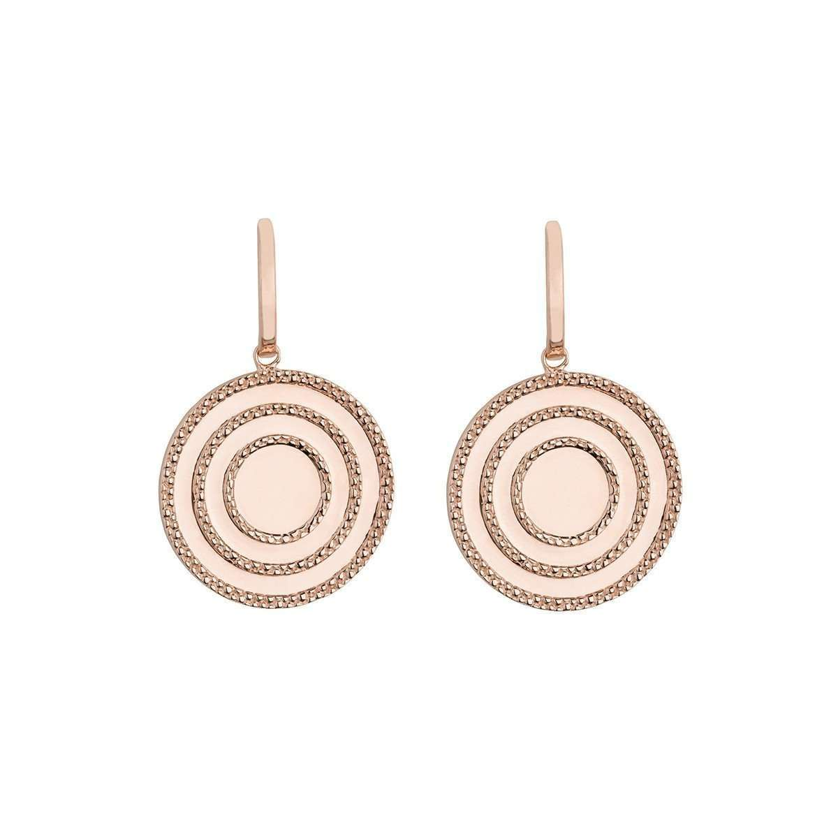 Echo Rose Drop Earrings-Emily Mortimer Jewellery-JewelStreet US