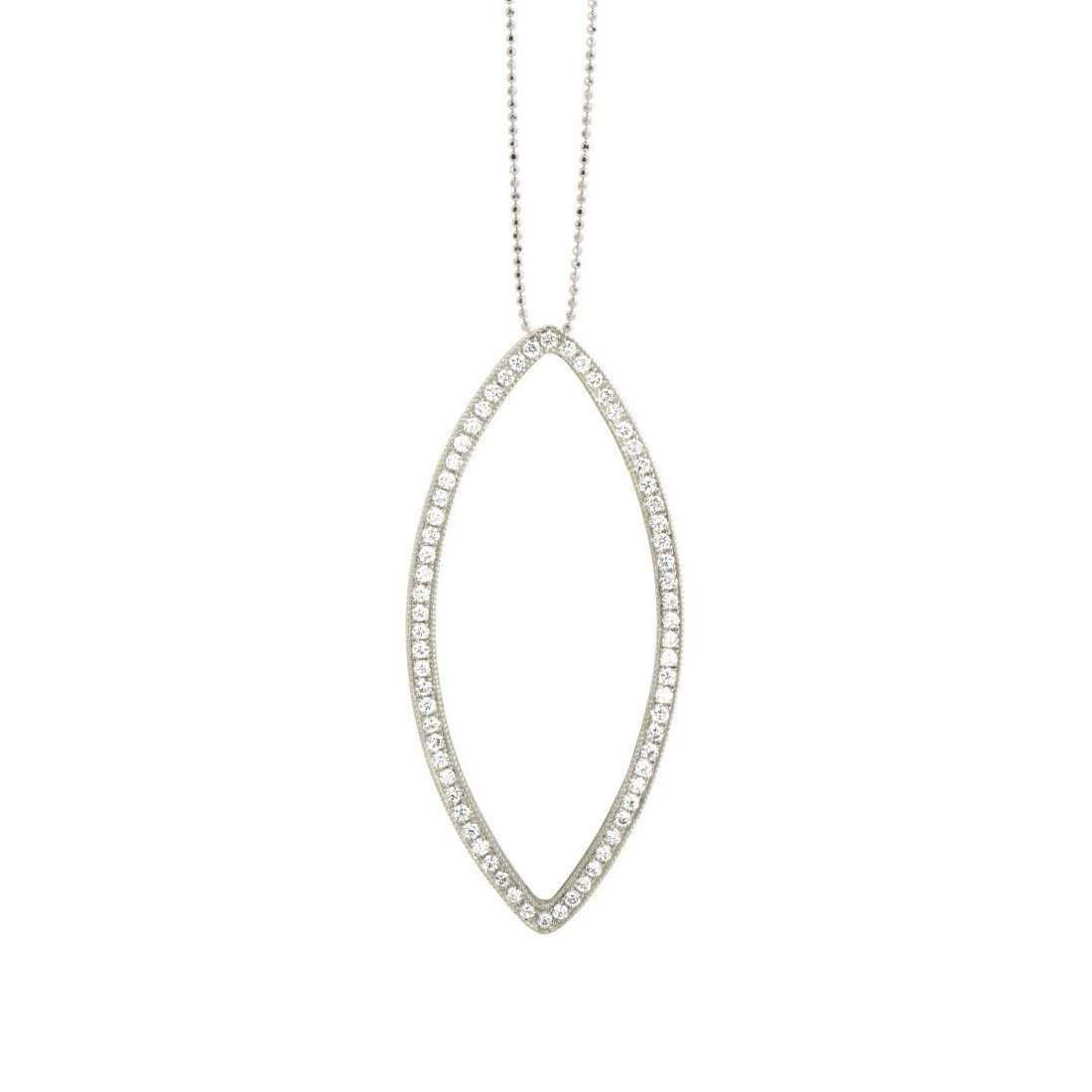 Edie 14kt White Gold Paved Eye Necklace with White Diamonds-Julez Bryant-JewelStreet US