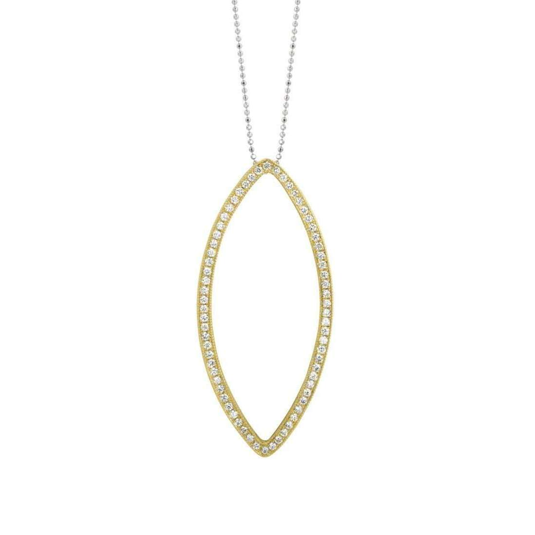 Edie 14kt Yellow Gold Paved Eye Necklace with White Diamonds-Julez Bryant-JewelStreet US