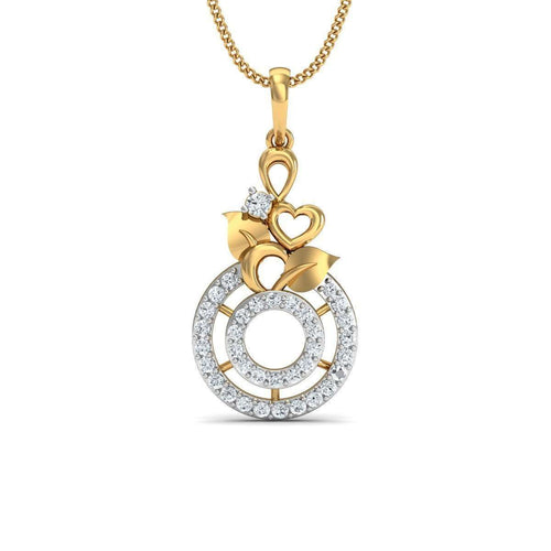 Effloresce 18kt Yellow Gold Pendant-Diamoire Jewels-JewelStreet US