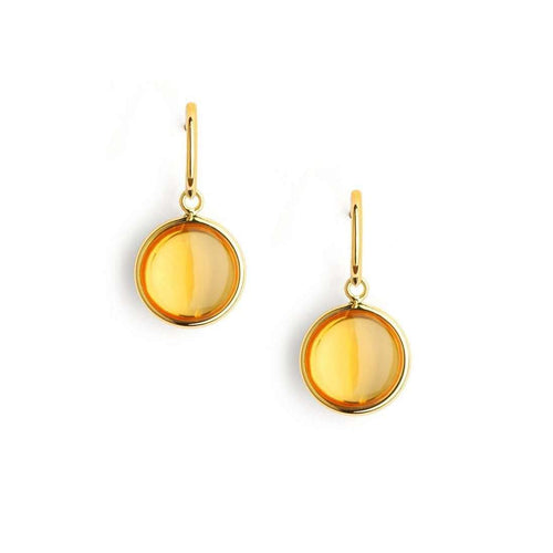 18kt Citrine Chakra Earrings-Syna-JewelStreet US