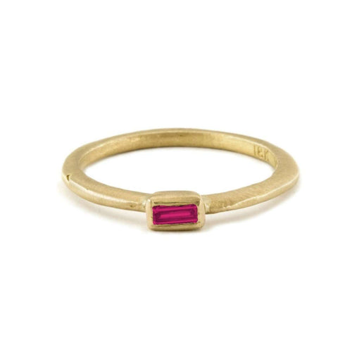 18kt Emerald Cut Ruby Ring-Page Sargisson-JewelStreet US