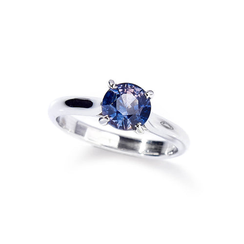 14kt White Gold Classic Engagement Ring With Sapphire ,[product vendor],JewelStreet