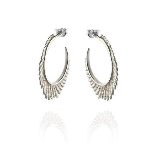 Fern large hoops-Patience Jewellery-JewelStreet US