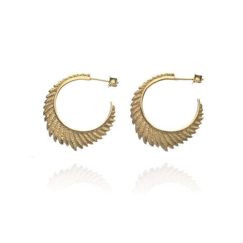 Fern large hoops VM-Patience Jewellery-JewelStreet US