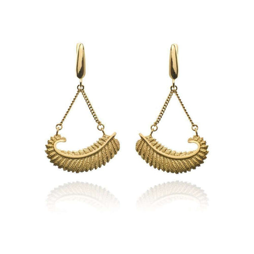 Fern Chain Earrings VM-Patience Jewellery-JewelStreet US