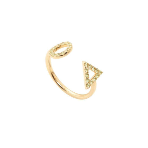 August Peridot Ring-Gisele for Eshvi-JewelStreet US