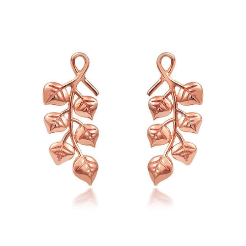 Eucalyptus Climber Earrings Rose-Liz Earle Fair and Fine-JewelStreet US