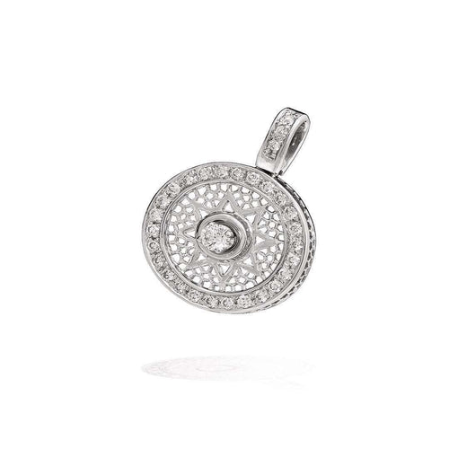 Full Diamonds Sun Pendant-Rosmundo-JewelStreet US