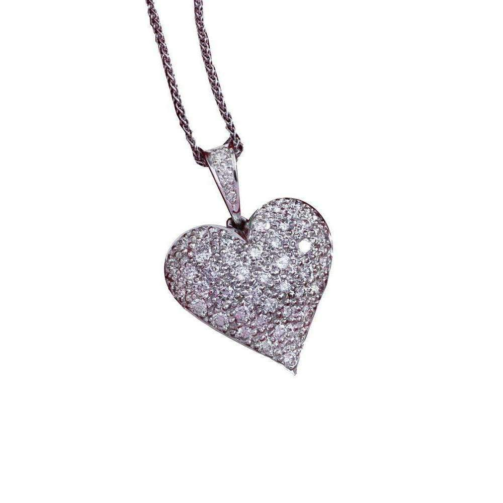 Full Heart Diamond Pendant-Necklaces-Daou Jewellery-JewelStreet